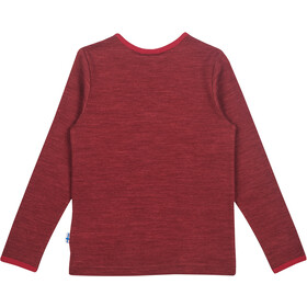 Finkid Taamo T-shirt manches longues en laine Fille, cabernet/persian red